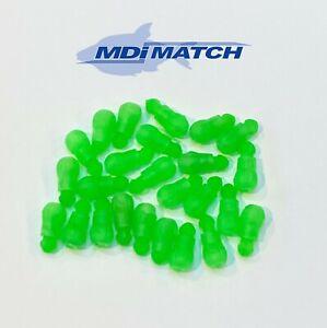 MDI Match Pole Bead Connectors Green 3mm Bore Size 10-20 Elastics