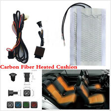 1 Seat 3 Files Switch Carbon Fiber Car Seat Heater Heated Cushion Pad 12V Kits