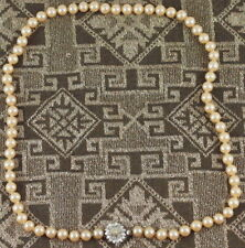 COLLANA PERLE CRISTALLI  ART DECO 1920 NECKLACE PEARL CRYSTALS