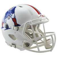 NEW ENGLAND PATRIOTS WHITE RIDDELL NFL FULL SIZE AUTHENTIC SPEED FOOTBALL HELMET