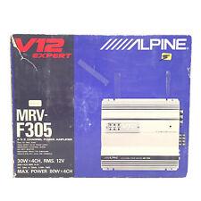 Old School Alpine MRV-F305 V12 Expert 4 channel Amplifier Rare SQ Flagship Japan