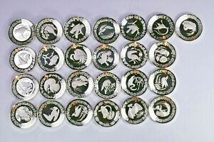 The Birds of the World Miniature 25 Silver Plate Collection 99c NR