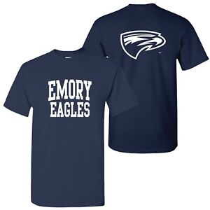 Emory Eagles Front and Back Print T-Shirt - Navy