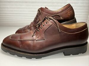 Salvatore Ferragamo Italy  Brown LEATHER Split Toe Derby Shoes Size 10.5