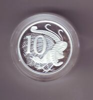 2005 Silver Proof 10 Cent Lyrebird Coin Australia Ex Fine Silver Set