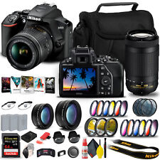 Nikon D3500 DSLR Camera with 18-55mm and 70-300mm Lenses (1588) + 64GB Extreme