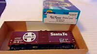 HO Scale Athearn 40' Box Car, ATSF Santa Fe, Brown #275894