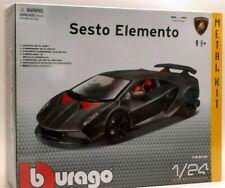 1:24 Scale Kit Lamborghini Sesto Elemento Silver Burago Bburago Detailed Model