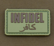 """PVC / Rubber Patch """"Infidel"""" OD with VELCRO® brand hook"""