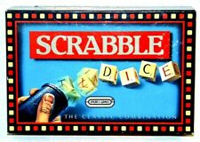 SCRABBLE DICE GAME CLASSIC WORD BUILDING GAME SPEARS GAMES 1990 COMPLETE