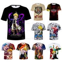 The Seven Deadly Sins Anime T-Shirt Men Women Casual Short Sleeve Tee Top Blouse