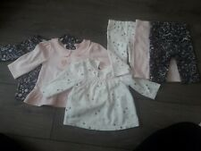 Baby girl set of 3 top and leggings set 0-3