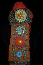 Orig $749 Nepal/Tibet Shaman Ritual Headress, Coral, Tourquoise 26in Prov