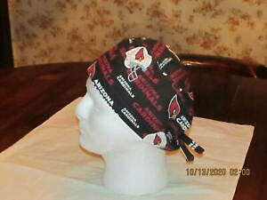 Handmade NFL Arizona Cardinals Surgical Scrub Hats