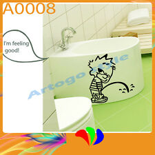 Wal Decal Sticker Toilet suiter Bathroom Shower Home Decor Bad Boy Pee A0008