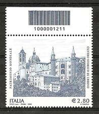 2008 ITALIA PATRIMONIO MONDIALE URBINO - CODICE A BARRE