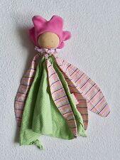 Käthe Kruse Puppe Blumenfee rosa grün * Schmusetuch Schnuffeltuch Kuscheltuch *