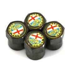 Black Yellow Alfa Romeo Car Wheel Tyre Valve Dust Caps - Covers  NEW