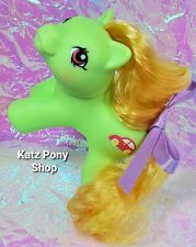 HQG1C Custom G1 MLP Style Playful Baby Pony 💜 ZIPPER 💜 w Accessories! GREEN