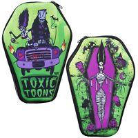 Kreepsville 666 Ladies Girl Toxic Toons Coffin Pouch Bag