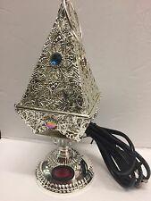 Sale!! YASMEEN Amazing! Silver Electric Incense Burner Pyramid Shape USA Seller