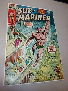 SUB-MARINER #38 Very High Grade Marvel (1971)• NAMOR ORIGIN ANDRU &SEVERIN ART