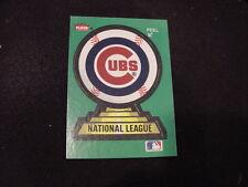 VINTAGE 1980's Chicago Cubs Fleer Team Logo Sticker Card, VERY COOL!!