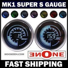 "MOOKEEH 2-1/16"" 7 LED Color 60 psi Diesel Boost + 2400 F EGT Pyrometer Gauge Kit"