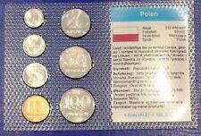 Poland 1-100 zloty 1990 XF UNC Circulation Coin Set - World Currencies