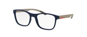 Prada VPS 08G UR7-1O1 Matte Blue Men's Authentic Eyeglasses Frame 52-18
