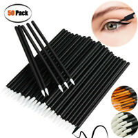 Disposable 50 Lip Brush Eyelash Eyeliner Mascara Wands Extension Applicator Tool