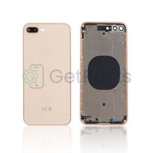 Backcover Frame passend für Apple iPhone 8 Plus Rose Gold Glas Gehäuse Rahmen