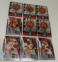 LOT (9) Mosaic Prizm 2019-20 Jam Masters Give And Go Insert Harden Westbrook