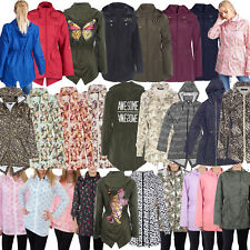 Brave Soul Womens Hooded Festival Mac Ladies Showerproof Winter Zip Up Raincoat
