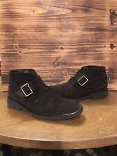 Pakerson buckle ankle boots, brown suede, men's shoe size US 10 EU 43 $620