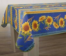 """60X80"""" (150/200cm) RECTANGLE SUNFLOWERS BLUE FRENCH PROVENCE TABLECLOTH, NEW"""