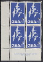 CANADA #415 15¢ Canada Goose LL Plate #2 Block MNH