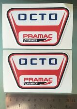 PRAMAC OCTO Decals / Stickers Moto GP Pramac Ducati Team Sponsor (100mmX62mm) X2