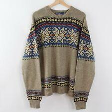Vintage Polo Ralph Lauren Knit Sweater Crewneck Aztec Snow Beach Stadium Size XL