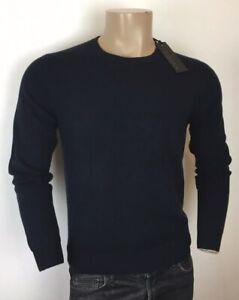 Ermenegildo Z ZEGNA Navy Soft Cashmere Comfort Crew Sweater Jumper RRP: £395.00