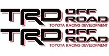 TRD Decals Vinyl Stickers 1 PAIR BLACK /RED Graphics Toyota Tundra Tacoma Truck