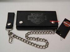 Harley-Davidson® Geldbörse Portemonnaie Leder Hartgeldfach B&S m. Kette XML3508