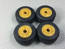 New LEGO Pearl Gold Wheels 18mm x 14mm Lot of 4 Authentic 30.4x14 Tires VR Solid