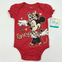 Minnie Mouse One Piece Baby Creeper Disney Bodysuit Outfit 6-9 Month Girls NWT