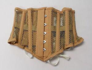 Orchard Corset Women's Mesh Hourglass Waspie Underbust Corset MP7 Beige Size 26