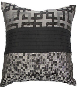 Galaxy by Phase 2 | Square Filled Cushion | Size 50x50cm | Colours: Silver/Black