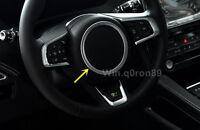For Jaguar F-Pace X761 2016 2017 ABS Matte Steering Wheel Decorative Cover Trim