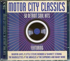 MOTOR CITY CLASSICS - 2 CD BOX SET - 50 DETROIT SOUL HITS, MARVIN GAYE & MORE