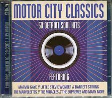 MOTOR CITY CLASSICS - 2 CD BOX SET - 50 DETROIT SOUL HITS, MARVIN GAYE & MORE