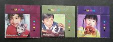 Children Pets Malaysia 2011 Animal Dog Cat Rabbit (stamp with color code) MNH